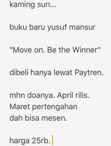 move on be the winner
